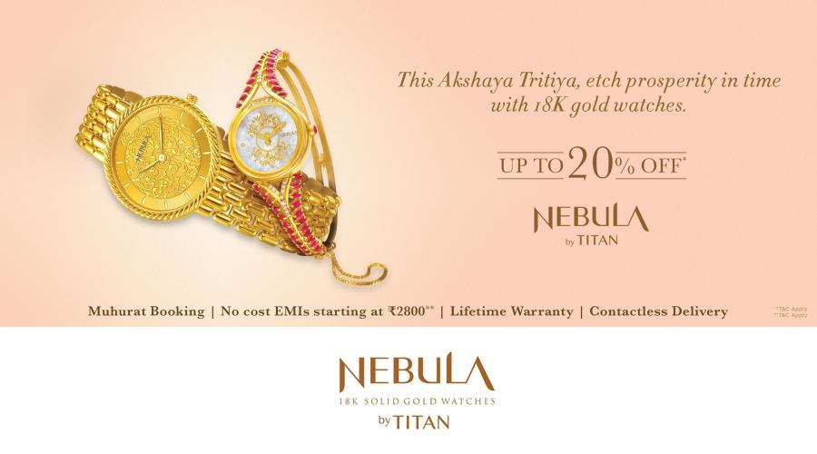 Nebula by Titan - 18k gold watches