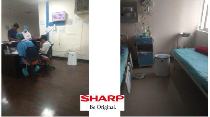 SHARP Air Purifier in Safdarjung Hospital