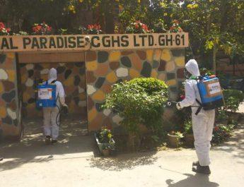 Sanitization by Raheja Developers - Gurugram residential societies