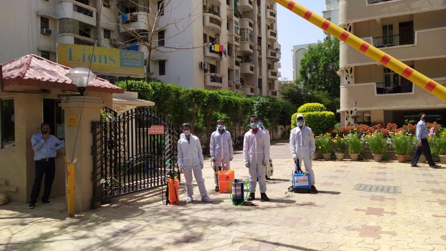 Sanitization by Raheja Developers - Gurugram