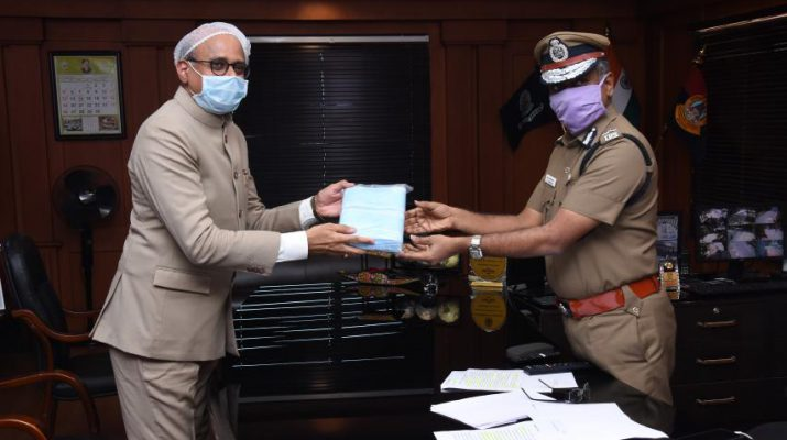Star Health donates facemasks for Chennai City police during Covid-19 pandemic