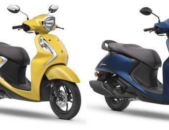 Yamaha Fascino 125 FI - Yellow - Blue