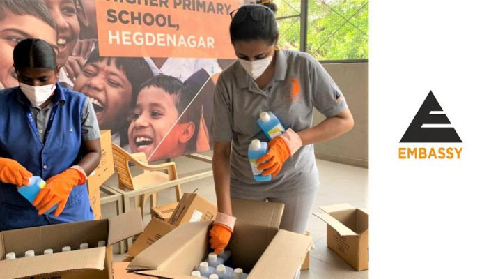 Embassy Group - Consortium of Corporates - Distribution of sanitizers - SSLC Exams