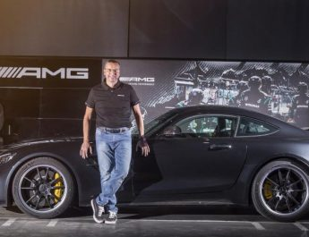 Martin Schwenk - MD and CEO - Mercedes-Benz India with the new AMG GT R