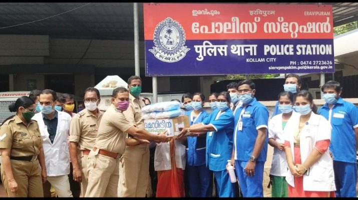 Meditrina Hospital Nursing Staff - Masks - Hand Sanitizers - Eravipuram Station