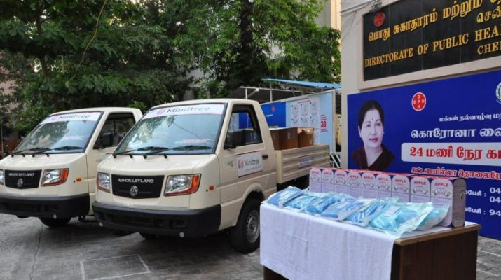 Mindtree donates Covid-19 relief support materials and vehicles 2