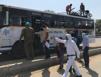 Rajasthan Sends Buses to Pick Labourers