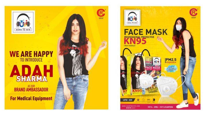 UandI KN95 Face Mask - Adah Sharma Brand Ambassador