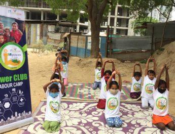 International Yoga Day - 6th Edition - Children of Construction Workers - iMpower Club