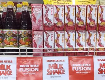 Rooh Afza Retail Products Display