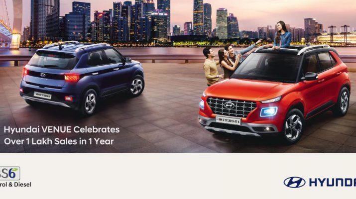 Hyundai VENUE Celebrates 1 Lakh Sales in 1 Year