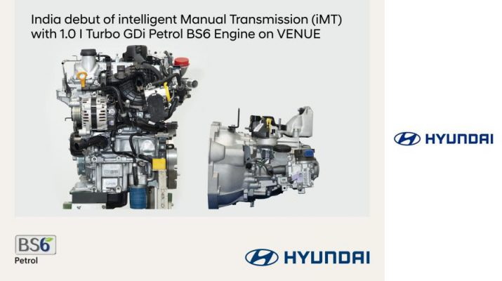 Hyundai intelligent Manual Transmission Petrol BS6 Engine Venue