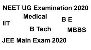 NEET UG Exam - JEE Main - 2020