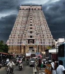 Srirangam Temple Gopuram - July 11 2020 - Evening