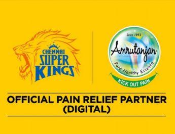 Amrutanjan is Official Pain Relief Partner-Digital for Chennai Super Kings - IPL 2020