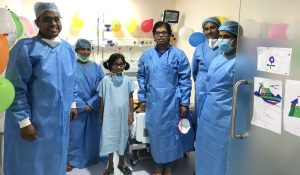 Liver Transplant - Prerna with doctors and nurses