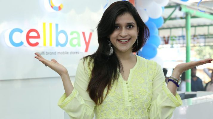 Bollywood Actress Mannara Chopra inaugurated 55th Cellbay Multi Brand Mobile Store at Beeramguda