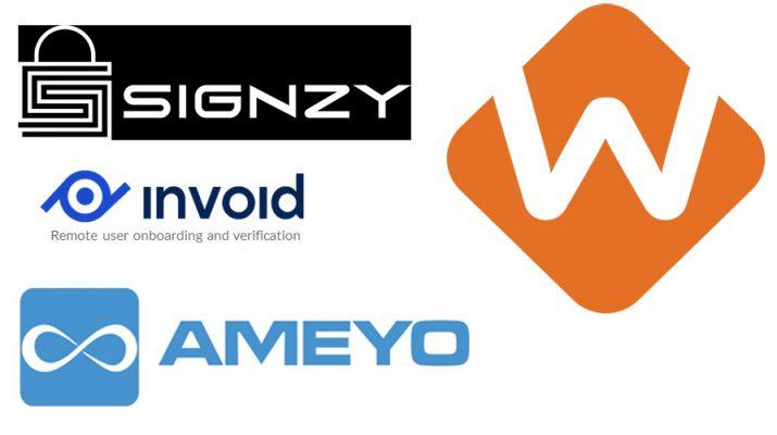 Signzy - Invoid - WorksAppS - Ameyo - Saas companies - VideoKYC