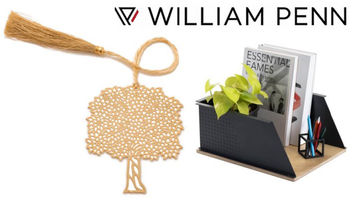 Spin Boxxit Large Desk Shelf For File Organizer - Bookmark Gold Plated Tree - William Penn