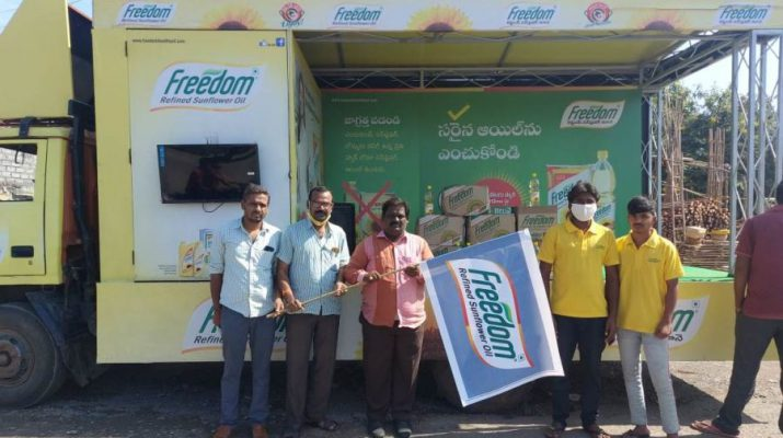 Freedom Healthy Cooking Oils Flags off Freedom Education Van