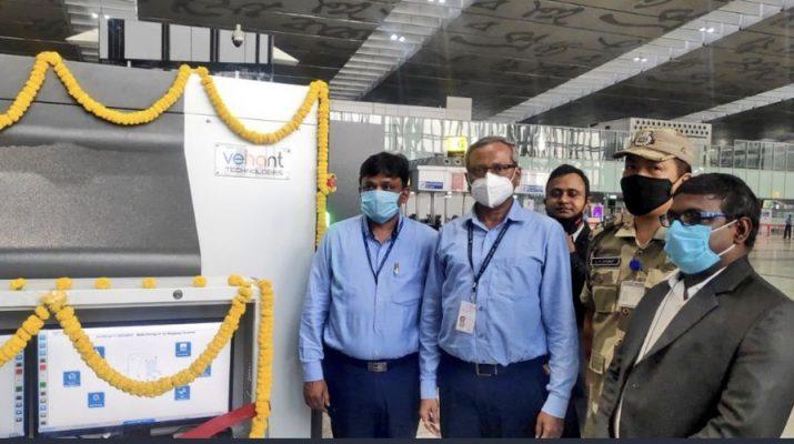 Kolkata Airport Director Shri Kaushik Bhattacharjee inaugurated dual view Xray scanners at Kolkata Airport