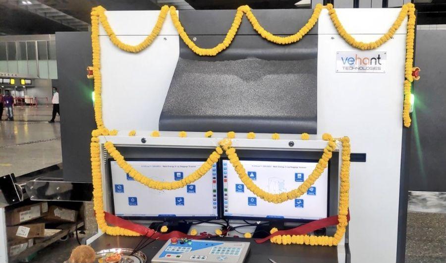 Newly inaugurated dual view scanners at Kolkata Airport