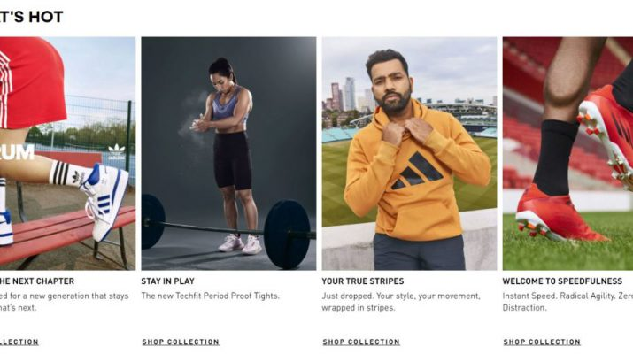 Adidas India Digital Store Home page - Whats Hot