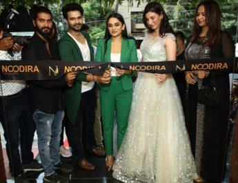 Suraj Gowda and Dhanya Ramkumar inaugurates Noodira - premium salon in Indiranagar