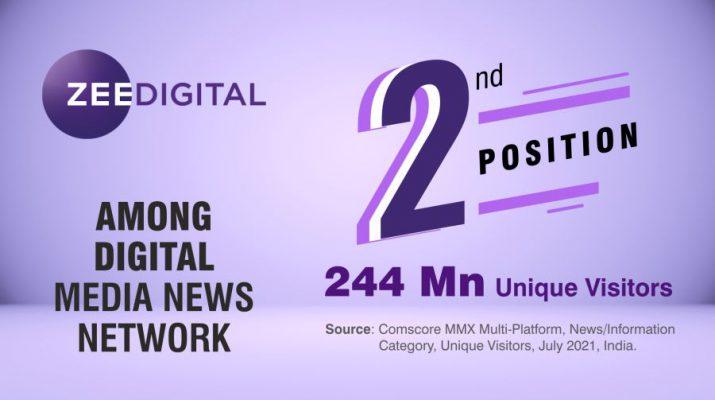 Zee Digital is Striding towards the Top Position Amongst Internet Websites